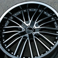 "20 x 8.5 / 20 x 10 Inch Glossy Black w/ Machined Face Automotive Rims - 20"" Wheels - Set of Four"