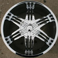 "Set of Four 20"" x 8.5"" Inch Automotive Rims w/ Triple Plated Chrome Finish"