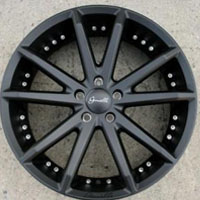 "20 x 8.0 Inch Matte Black Automotive Rims 20"" Wheels - Set of 4"
