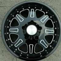 "18 x 9.0 Inch Glossed Black w/ Machined Automotive Rims 18"" Wheels - Set of 4"