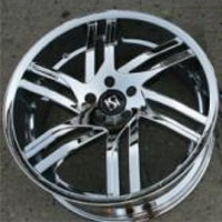 "20"" x 8.5"" / 20"" x 10"" Triple Plated Chrome Automotive Rims 20"" Wheels - Set of 4"