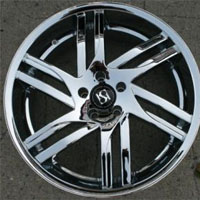 "20"" x 8.5"" Triple Plated Chrome Automotive Rims 20"" Wheels - Set of 4"