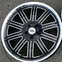 "20 x 9.0 / 20 x 10 Inch Black w/ Machined Face & Lip Automotive Rims - 20"" Wheels - Set of Four"