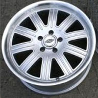 "20 x 9.0 / 20 x 10.5 Inch Silver w/ Machined Lip Automotive Rims 20"" Wheels - Set of 4"