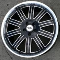 "20 x 9.0 / 20 x 10 Inch Black w/ Machined Face & Lip Automotive Rims 20"" Wheels - Set of 4"