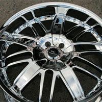 "22 x 8.5 / 22 x 10.0 Inch Triple Plated Chrome Automotive Rims 22"" Wheels - Set of 4"