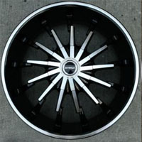 "22"" x 8.5"" Inch Gloss Black w/ Machined Face & Lip Automotive Rims 22"" Wheels - Set of 4"