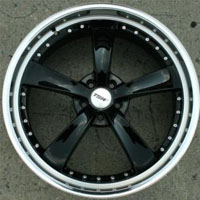 "22 x 9.0 Inch Gloss Black w/ Machined Lip Automotive Rims 22"" Wheels - Set of 4"