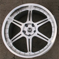 "20"" x 8.5"" / 20"" x 9.5"" Inch Hyper Silver w/ Machined Lip Automotive Rims - Set of Four"