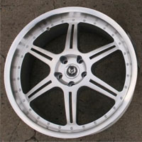 "20 x 8.5 / 20 x 9.5 Inch Hyper Silver w/ Machined Lip Automotive Rims 20"" Wheels Set of 4"