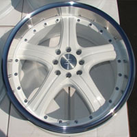 "18 Inch White w/ Polished Face Automotive Rims 18"" Wheels - Set of 4"