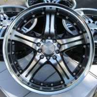 "18 Inch Black Automotive Rims 18"" Wheels - Set of 4"