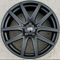 "20 x 9.0 Inch Matte Black Automotive Rims 20"" Wheels - Set of 4"
