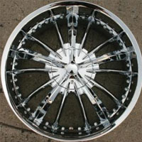 "22"" x 8.5"" Triple Plated Chrome Automotive Rims 22"" Wheels - Set of Four"