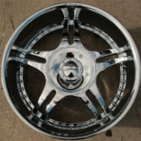 "20 x 10.0 Inch Triple Plated Chrome Finish Automotive Rims - 20"" Wheels - Set of Four"