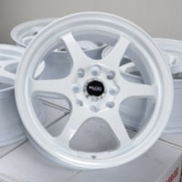 "15 Inch White Lip Automotive Rims 15"" Wheels - Set of 4"