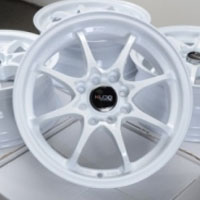 "15 Inch White Automotive Rims 15"" Wheels - Set of 4"