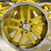 "16 Inch Yellow w/ Machine Lip Automotive Rims 16"" Wheels - Set of 4"