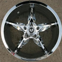 "18 x 8.5 Inch Triple Plated Chrome Automotive Rims 18"" Wheels - Set of 4"