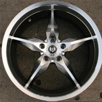"19 Inch Hyper Silver Automotive Rims 19"" Wheels - Set of 4"