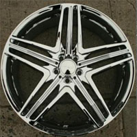"Set of 4 - 20 x 8.5 - Triple Plated Chrome Automotive Rims 20"" Wheels"