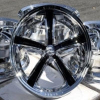 "19 Inch Chrome w/ Black Insert Automotive FWD Rims 19"" Wheels - Set of 4"