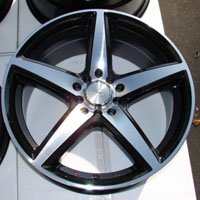 "17 Inch Black Automotive Rims 17"" Wheels - Set of 4"