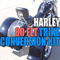 Harley Davidson 80 FLT Motorcycle Trike Conversion Kit