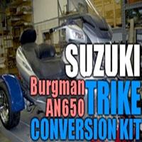 Suzuki Burgman AN650 Motorcycle Trike Conversion Kit