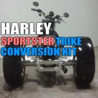 Harley Davidson Sportster Motorcycle Trike Conversion Kit - 1979 - 2003
