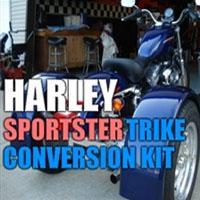 Harley Davidson Sportster Motorcycle Trike Conversion Kit - 2004 - Present