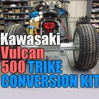 Kawasaki Vulcan 500 Motorcycle Trike Conversion Kit