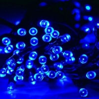 Solar Powered 100 LED 35-Foot Blue Decorating String Lights