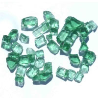High Grade Green Arctic Flame Glass