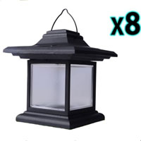 Brand New 8pcs Outdoor Hanging LED Solar Garden Light