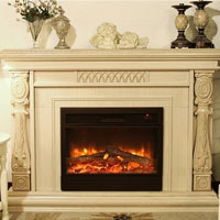 High Quality LED Freestanding Electric Fireplace W/Remote Control