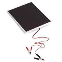 Two 5 Watt 18V Thin Film Solar Panel Battery Charger Kit w/ Alligator Clips