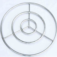 High Grade 30in SS Fire Pit Ring Burner Kit with Pan