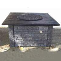 High Grade 36in KD Fire Pit with 42in Top Kit