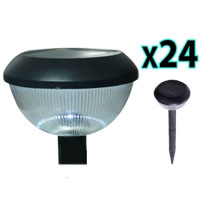 Brand New 24pc Outdoor LED Solar Garden Wall Light