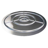 High Grade 36in SS Fire Pit Ring Burner Kit with Pan