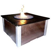 High Grade 42in KD Fire Pit with 42in Top Kit