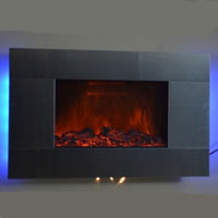 "Brand New 36"" Wall Mounted Electric Fireplace Heater Romantic Blacklight 5200BTUs"