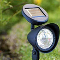 Set of 8 Outdoor Garden 3-LED Solar Spot Flood Landscape Lights