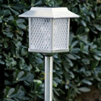 6 Large Outdoor Garden Stainless Steel Landscape Lamps