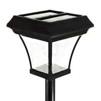 6.5 Ft Third Generation 4-LED Solar Powered Lamp Post