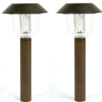 Set of 12 Antique Bronze Color Changing LED Solar Lights