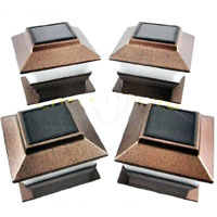 Set of 8 Fence Deck Cap Solar Outdoor Lights