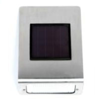 Set of 6 Outdoor Garden Stainless Steel LED Solar Wall Lights