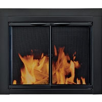 Brand New Alpine Fireplace Glass Door